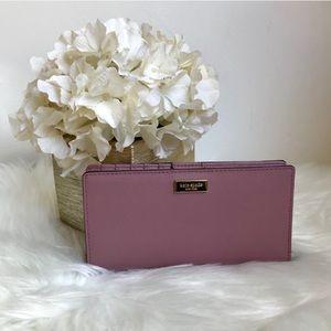 Kate Spade dusty peony bifold medium sized wallet